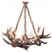 Antler Chandelier 6 light chain version