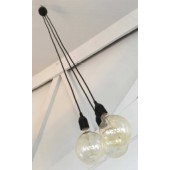CLUSTER Three Light Pendant 1m PVC