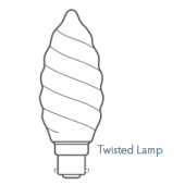 CANDLE LAMP 47mm 60w TWISTED FROSTED