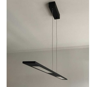 Gandino Matt Black LED 1200mm Linear Pendant