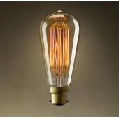 LAMP EDISON AMERICAN STYLE V SHAPED BC