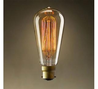 LAMP EDISON AMERICAN STYLE V SHAPED BC