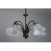 CARCINA Pendant 5 Light Multi-arm ALABASTER Glass