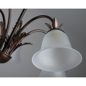 CARCINA Ceiling 5 Light Multi-arm ALTO Satin Glass