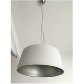 Valenza 350mm WHITE / SILVER GLASS Pendant
