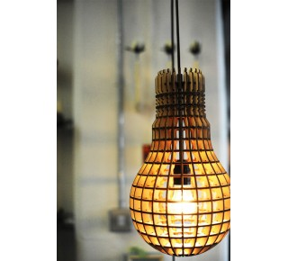 Hemmes Wooden Bulb Lamp or Pendant
